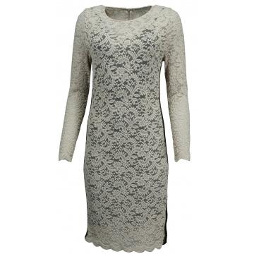 Sukienka beżowa z koronki
