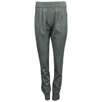 Grafitowe spodnie damskie z...