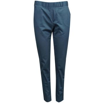 Granatowe spodnie damskie z...