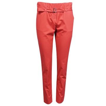 Czerwone spodnie damskie z...