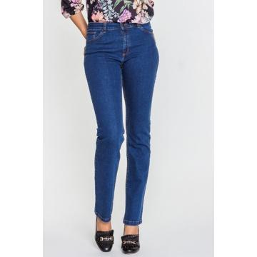 Granatowe spodnie jeansowe...