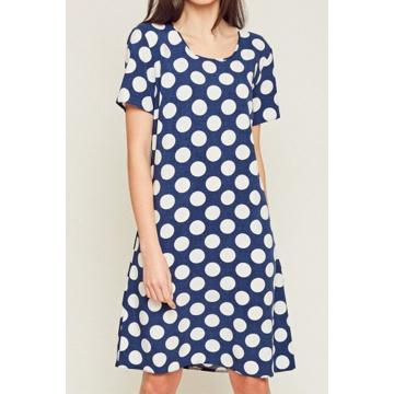 Granatowa zwiewna sukienka...