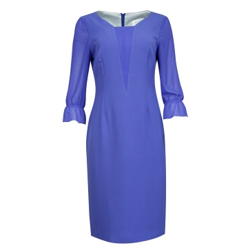 Fioletowa sukienka z...