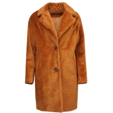 Rudy zimowy płaszcz damski...