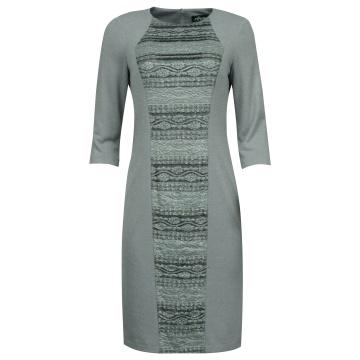Szara ołówkowa sukienka z...