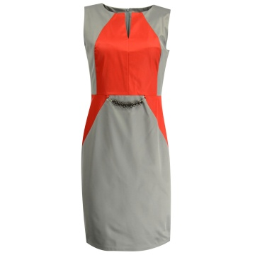 Szara sukienka model Boho