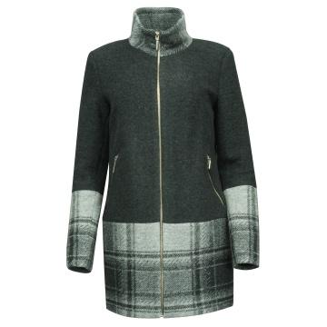 Grafitowy zimowy płaszcz...