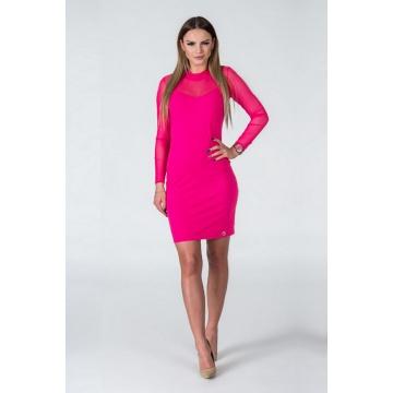 Różowa sukienka z rękawami...