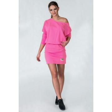 Różowa sukienka z bawełny...