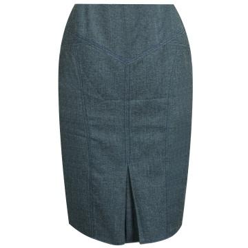 Granatowa ołówkowa spódnica...