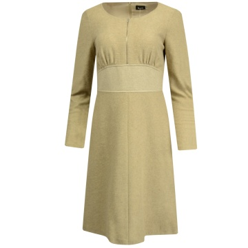 Wełniana beżowa sukienka...