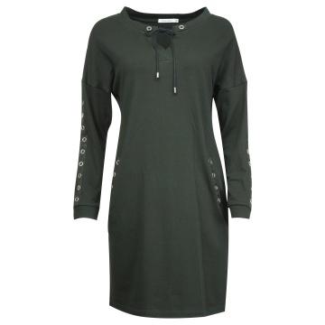 Czarna sukienka oversize z...