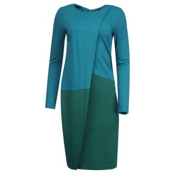 Niebiesko-zielona sukienka...