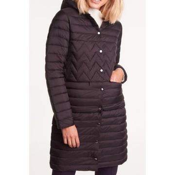 Czarna kurtka damska pikowana