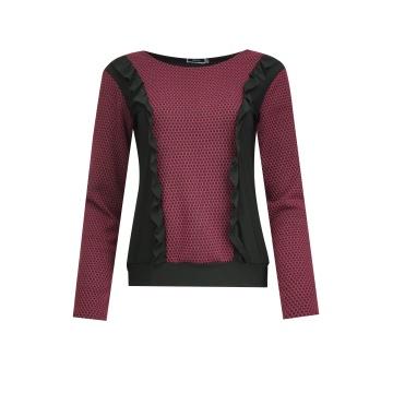 Czarno-wiśniowa bluzka...