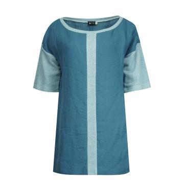 Błękitna długa bluzka damska