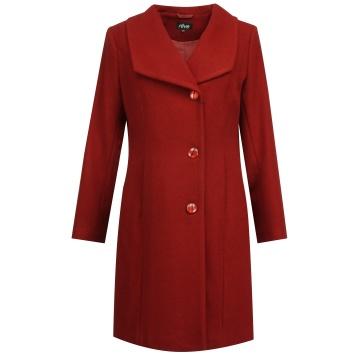 Czerwony zimowy płaszcz...