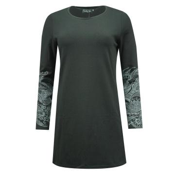 Czarna długa bluzka damska 579
