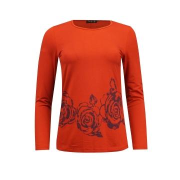 Czerwona bluzka damska z...