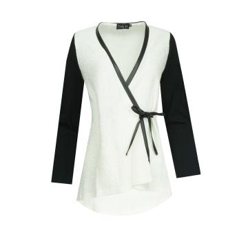 Biało-czarna bluzka damska...