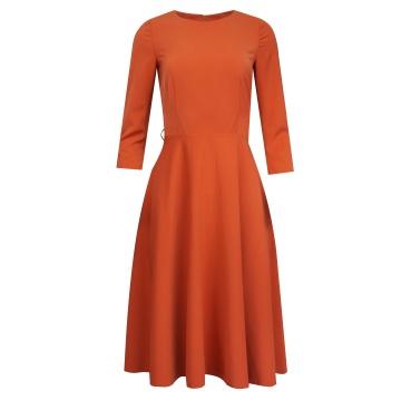Rozkloszowana sukienka w...