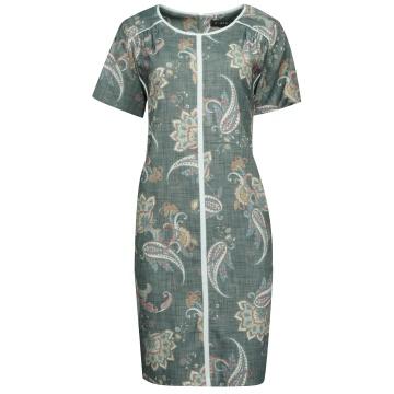 Wzorzysta sukienka TD077/K
