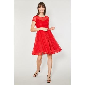 Czerwona  sukienka Clova...