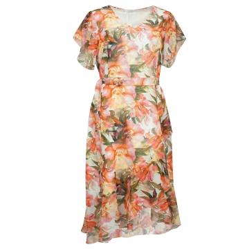 Kolorowa sukienka w kwiaty...