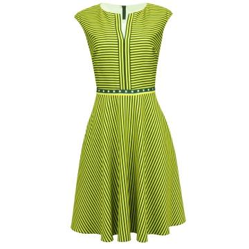 Zielona sukienka w paseczki...