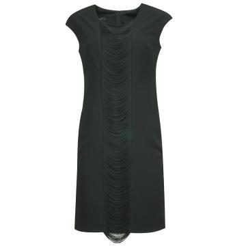 Czarna sukienka z frędzlami...