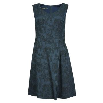 Granatowa sukienka odcinana...