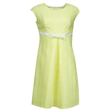 Limonkowa sukienka odcinana...