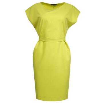 Limonkowa sukienka z...