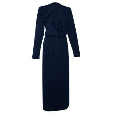Granatowa maxi sukienka z...