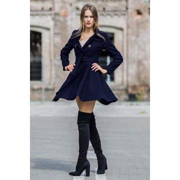 Granatowy płaszcz damski...