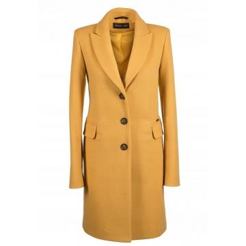 Miodowy płaszcz damski z...