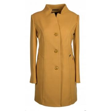 Żółty płaszcz damski model...