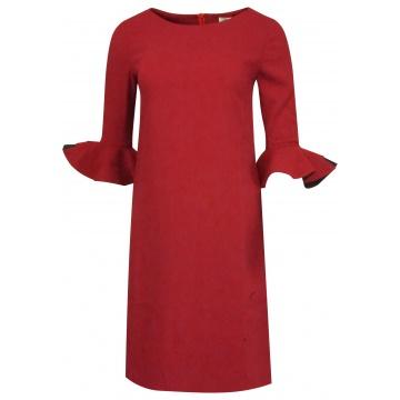Wiśniowa ołówkowa sukienka...
