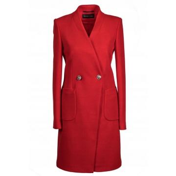 Czerwony płaszcz damski z...