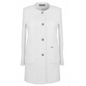 Biały płaszcz damski z...