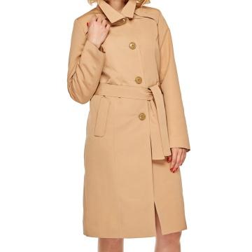 Beżowy wiosenny płaszcz...