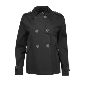 Czarna kurtka damska z bawełny