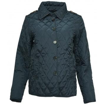 Granatowa pikowana kurtka...