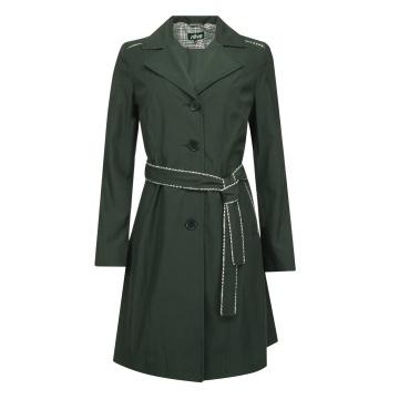 Czarny wiosenny płaszcz...