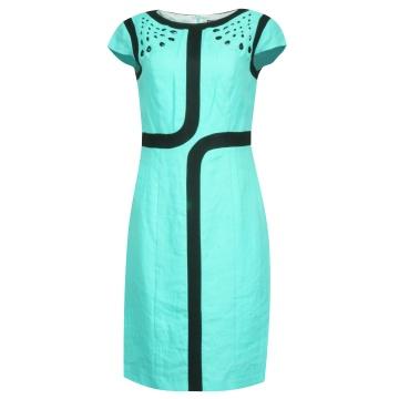 Błękitna sukienka wizytowa...