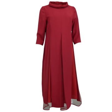 Wiśniowa zwiewna sukienka,...