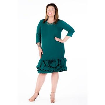 Zielona wizytowa sukienka z...