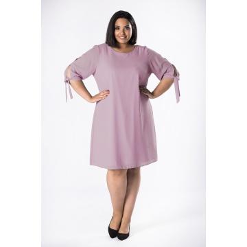Różowa zwiewna sukienka o...