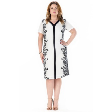 Biała sukienka z krótkim...