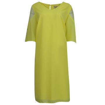 Żółta zwiewna sukienka z...